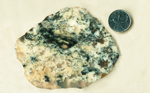Blue-green and white Wind River Moss Agate slab from Wyoming.