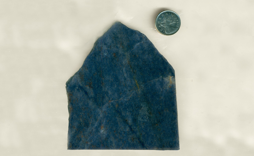 Blue mottled Aventurine slab from India, with details of other colors spread through it.